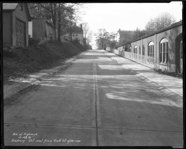 Street Improvement Photographs -- Box 37, Folder 11 (Hickory Street) -- negative, 1931-10-28
