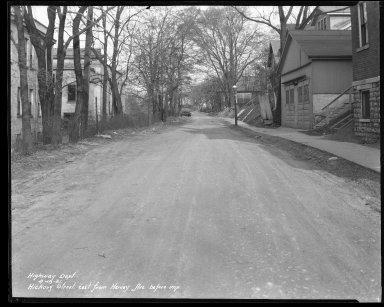 Street Improvement Photographs -- Box 37, Folder 11 (Hickory Street) -- negative, 1931-04-18