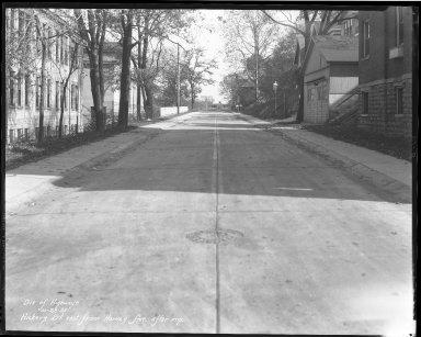 Street Improvement Photographs -- Box 37, Folder 11 (Hickory Street) -- negative, 1931-10-28