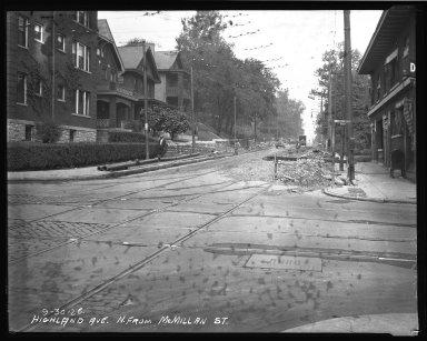 Street Improvement Photographs -- Box 37, Folder 13 (Highland Avenue) -- negative, 1926-09-30