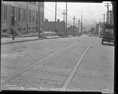 Street Improvement Photographs -- Box 37, Folder 14 (Highland Avenue) -- negative, 1929-06-22