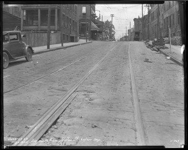 Street Improvement Photographs -- Box 37, Folder 14 (Highland Avenue) -- negative, 1929-06-22