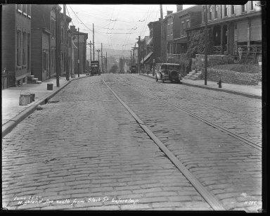 Street Improvement Photographs -- Box 37, Folder 15 (Highland Avenue) -- negative, 1929-06-22