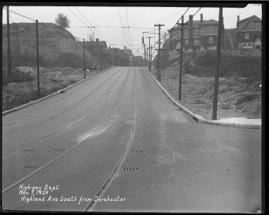 Street Improvement Photographs -- Box 37, Folder 15 (Highland Avenue) -- negative, 1929-11-07