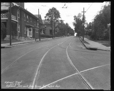 Street Improvement Photographs -- Box 37, Folder 15 (Highland Avenue) -- negative, 1930-06-11