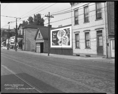 Street Improvement Photographs -- Box 37, Folder 17 (Highland Avenue) -- negative, 1944-07-10