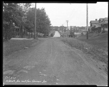 Street Improvement Photographs -- Box 37, Folder 19 (Hildreth Avenue) -- negative, 1927-10-03