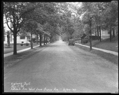 Street Improvement Photographs -- Box 37, Folder 21 (Hillsdale Avenue) -- negative, 1930-05-17
