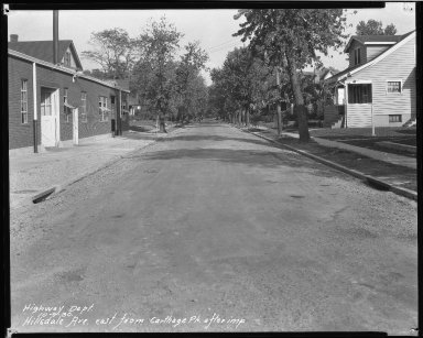 Street Improvement Photographs -- Box 37, Folder 21 (Hillsdale Avenue) -- negative, 1930-10-09