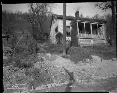 Street Improvement Photographs -- Box 37, Folder 22 (Hillside Avenue) -- negative, 1942-02-20
