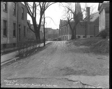 Street Improvement Photographs -- Box 37, Folder 23 (Hobart Avenue) -- negative, 1930-12-22