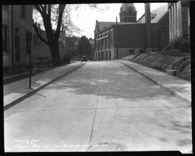 Street Improvement Photographs -- Box 37, Folder 23 (Hobart Avenue) -- negative, 1931-05-06