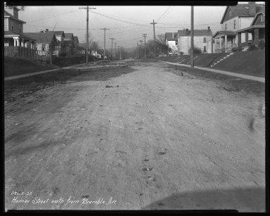 Street Improvement Photographs -- Box 37, Folder 25 (Homer Street) -- negative, 1927-12-05