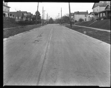 Street Improvement Photographs -- Box 37, Folder 25 (Homer Street) -- negative, 1927