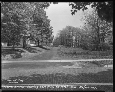 Street Improvement Photographs -- Box 37, Folder 26 (Hope Lane) -- negative, 1945-05-11