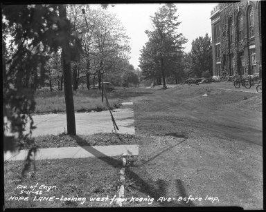 Street Improvement Photographs -- Box 37, Folder 26 (Hope Lane) -- negative, 1945-05-11