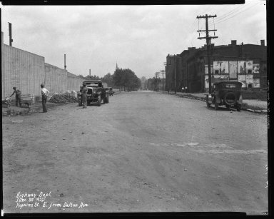 Street Improvement Photographs -- Box 37, Folder 27 (Hopkins Street) -- negative, 1932-06-30