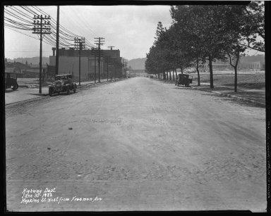 Street Improvement Photographs -- Box 37, Folder 27 (Hopkins Street) -- negative, 1932-06-30