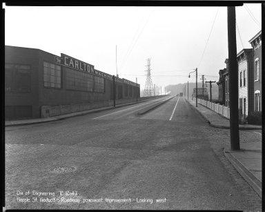 Street Improvement Photographs -- Box 37, Folder 28 (Hopple Street Viaduct) -- negative, 1947-12-12