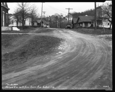 Street Improvement Photographs -- Box 37, Folder 29 (Howard Avenue) -- negative, 1929-03-26