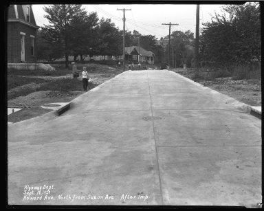 Street Improvement Photographs -- Box 37, Folder 29 (Howard Avenue) -- negative, 1929-09-16