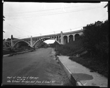 Street Improvement Photographs -- Box 37, Folder 31 (Ida Street Bridge) -- negative, 1931-09-14