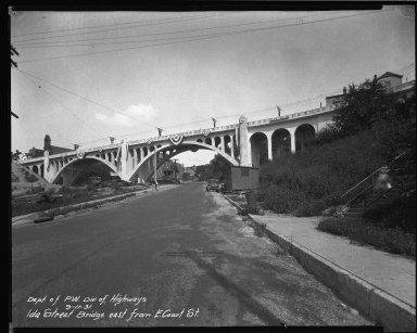 Street Improvement Photographs -- Box 37, Folder 31 (Ida Street Bridge) -- negative, 1931-09-11