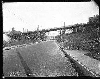 Street Improvement Photographs -- Box 37, Folder 32 (Ida Street Bridge) -- negative, 1931-02-05