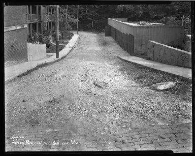 Street Improvement Photographs -- Box 37, Folder 34 (Inwood Place) -- negative, 1927-08-10