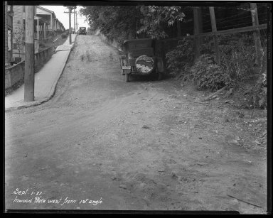 Street Improvement Photographs -- Box 37, Folder 34 (Inwood Place) -- negative, 1927-09-01