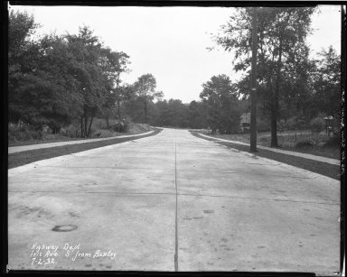 Street Improvement Photographs -- Box 37, Folder 36 (Iris Avenue) -- negative, 1932-07-02