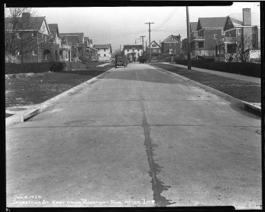 Street Improvement Photographs -- Box 37, Folder 40 (Jamestown Place) -- negative, 1929-01-04
