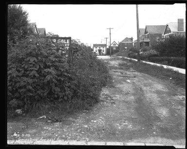 Street Improvement Photographs -- Box 37, Folder 40 (Jamestown Place) -- negative, 1928-08-03
