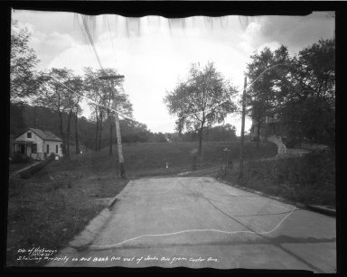 Street Improvement Photographs -- Box 37, Folder 43 (Jenks Avenue) -- negative, 1937-10-14