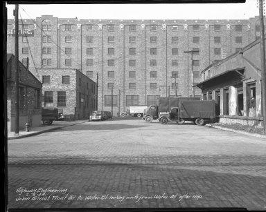 Street Improvement Photographs -- Box 37, Folder 44 (John Street) -- negative, 1943-02-04