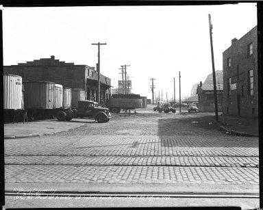 Street Improvement Photographs -- Box 37, Folder 44 (John Street) -- negative, 1942-03-17