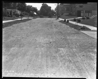 Street Improvement Photographs -- Box 37, Folder 45 (Joselin Avenue) -- negative, 1928-07-20