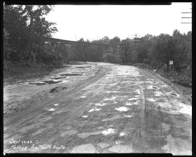 Street Improvement Photographs -- Box 37, Folder 48 (Kellogg Avenue) -- negative, 1926-07-23