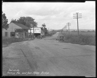 Street Improvement Photographs -- Box 37, Folder 48 (Kellogg Avenue) -- negative, 1926-09-23