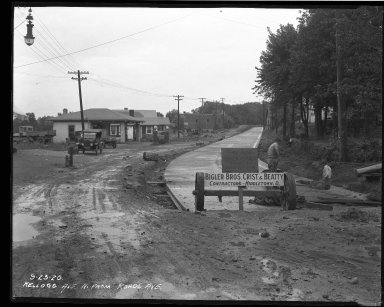 Street Improvement Photographs -- Box 37, Folder 49 (Kellogg Avenue) -- negative, 1926-09-23