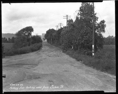 Street Improvement Photographs -- Box 37, Folder 49 (Kellogg Avenue) -- negative, 1926-09-23
