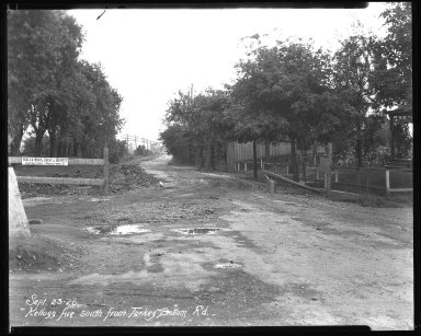 Street Improvement Photographs -- Box 37, Folder 50 (Kellogg Avenue) -- negative, 1926-09-23
