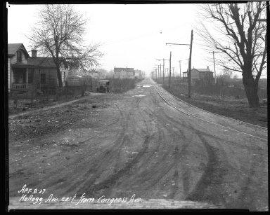 Street Improvement Photographs -- Box 37, Folder 50 (Kellogg Avenue) -- negative, 1927-04-08