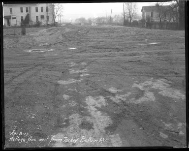 Street Improvement Photographs -- Box 37, Folder 50 (Kellogg Avenue) -- negative, 1927-04-08
