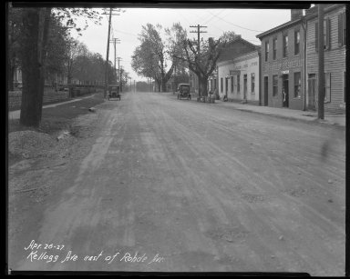 Street Improvement Photographs -- Box 37, Folder 51 (Kellogg Avenue) -- negative, 1927-04-26