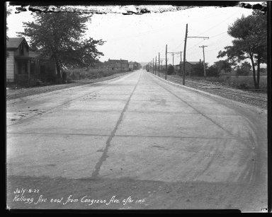 Street Improvement Photographs -- Box 37, Folder 52 (Kellogg Avenue) -- negative, 1927-07-08