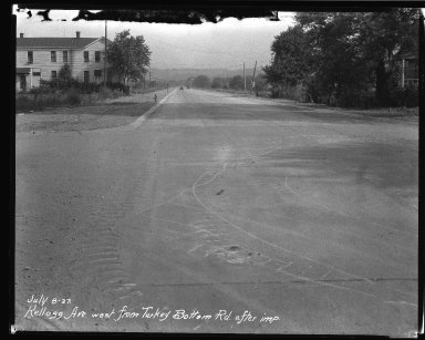 Street Improvement Photographs -- Box 37, Folder 52 (Kellogg Avenue) -- negative, 1927-07-08