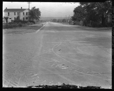 Street Improvement Photographs -- Box 37, Folder 53 (Kellogg Avenue) -- negative, 1927-07-08