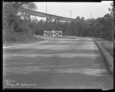 Street Improvement Photographs -- Box 37, Folder 53 (Kellogg Avenue) -- negative, 1927-10-05