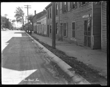 Street Improvement Photographs -- Box 37, Folder 53 (Kellogg Avenue) -- negative, 1927-10-05